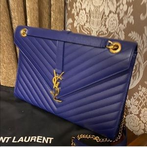 YSL envelope large blue